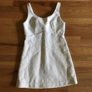 ZARA TRAFALUC // White Mini Dress Size Medium